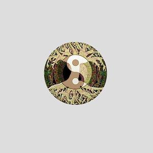Yin Yang Mandala Mini Button