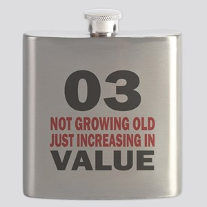 3 Not Growing Old Birthday Flask