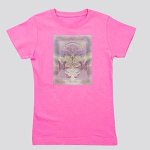 Two Angels in Pink Girl's Tee