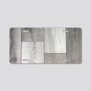 french white washed wood Aluminum License Plate