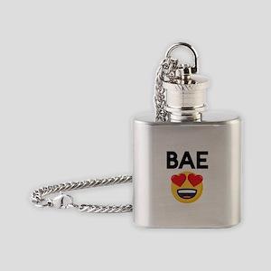 Emoji Heart Eyes Bae Flask Necklace