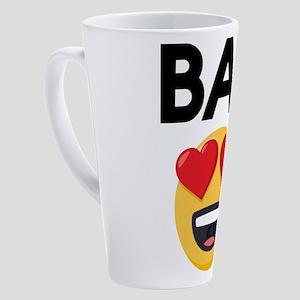 Emoji Heart Eyes Bae 17 oz Latte Mug