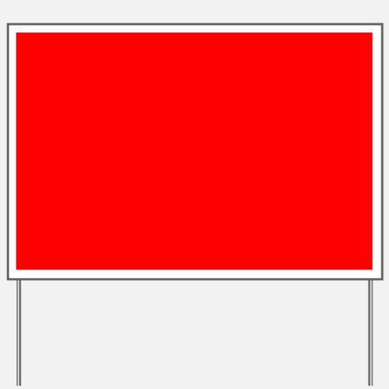 Simply Red Solid Color Yard Sign