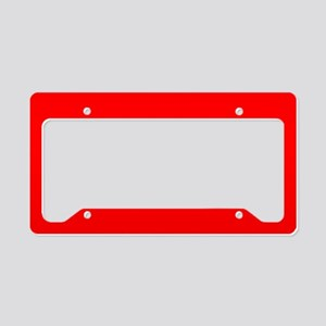 Simply Red Solid Color License Plate Holder