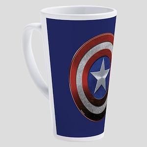 Captain American Grunge 17 oz Latte Mug
