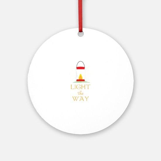 Light The Way Round Ornament