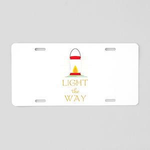 Light The Way Aluminum License Plate