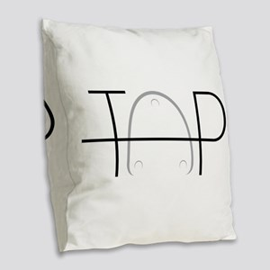 Tap Dance Burlap Throw Pillow