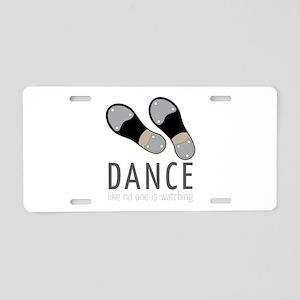 Dance Aluminum License Plate