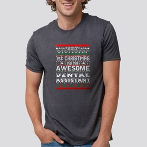 2017 1st Christmas Awesome Dental Assistan T-Shirt