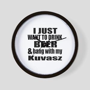 Hang With My Kuvasz Wall Clock