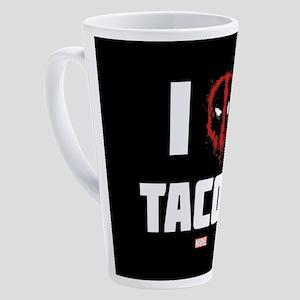 Deadpool Tacos 17 oz Latte Mug