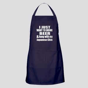 Hang With My Japanese Chin Apron (dark)