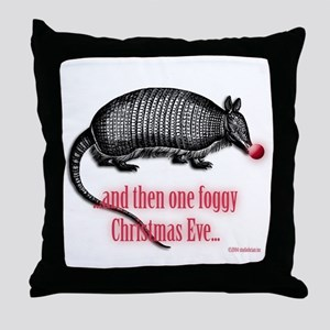 red nosed armadillo Throw Pillow