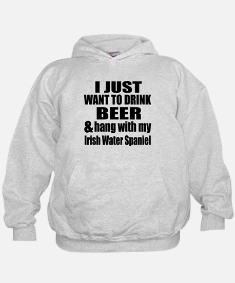 Hang With My Irish Water Spaniel Hoodie