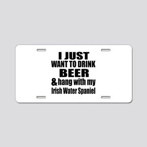 Hang With My Irish Water Sp Aluminum License Plate