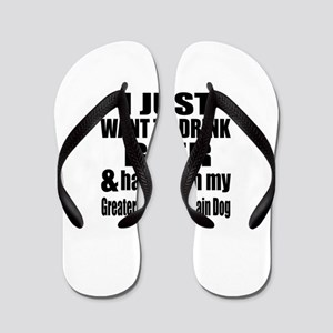 Hang With My Greater Swiss Mountain Dog Flip Flops