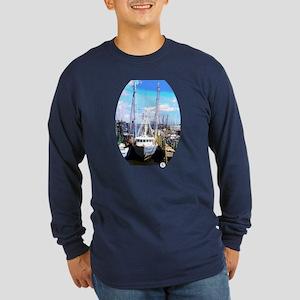 The Fishing Trawler Long Sleeve Dark T-Shirt