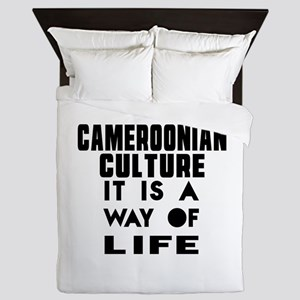 Cemeroonian Culture It Is A Way Of Lif Queen Duvet