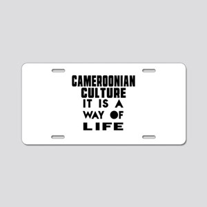 Cemeroonian Culture It Is A Aluminum License Plate