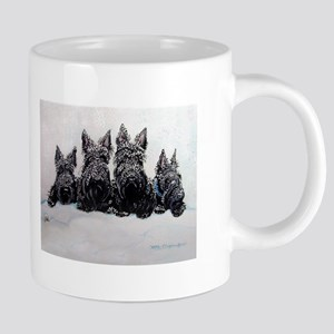 Snow Scottish Terriers Mugs