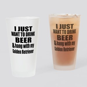 Hang With My Golden Retriever Drinking Glass