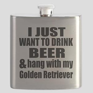 Hang With My Golden Retriever Flask