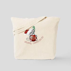 Merry Christmas Mouse Tote Bag