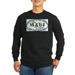 Maui Surf Spots Long Sleeve Dark T-Shirt