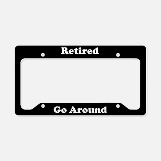 Retired Go Around License Plate Holder