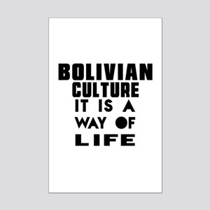 Bolivian Culture It Is A Way Of Mini Poster Print