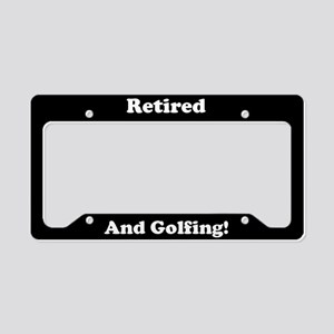 Retired And Golfing License Plate Holder