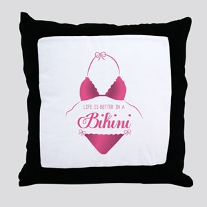 A Bikini Throw Pillow