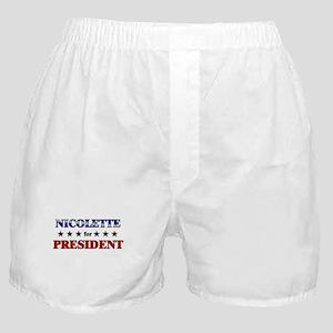 NICOLETTE for president Boxer Shorts