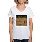 Jackrabbit Sitting Women's V-Neck T-Shirt