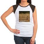 Jackrabbit Sitting Women's Cap Sleeve T-Shirt