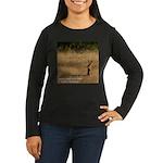 Jackrabbit Sitting Women's Long Sleeve Dark T-Shir