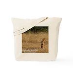 Jackrabbit Sitting Tote Bag