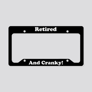 Retired And Cranky License Plate Holder