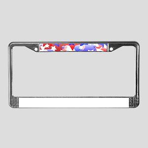 Patriotic Stars License Plate Frame