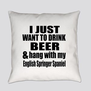 Hang With My English Springer Span Everyday Pillow