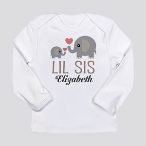 Lil Sis Personalized Sister Long Sleeve T-Shirt