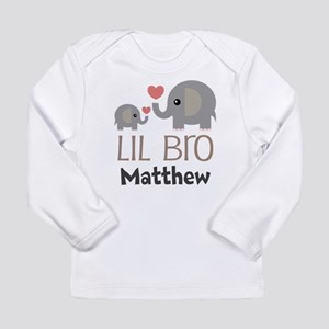 Lil Bro Personalized Brother Long Sleeve T-Shirt