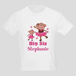 Big Sis Personalized Monkey T-Shirt