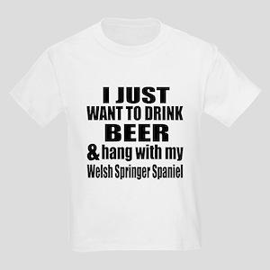 Hang With My Welsh Springer Spa Kids Light T-Shirt