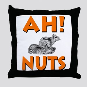 Ah! Nuts Chipmunk Throw Pillow