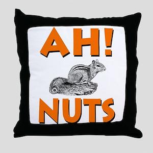 Ah! Nuts Chipmunk Throw Pillow