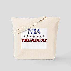 NIA for president Tote Bag