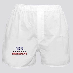 NIA for president Boxer Shorts