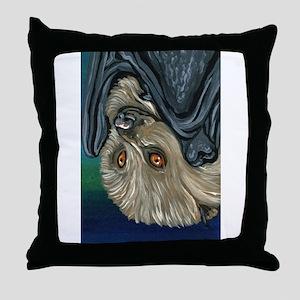 Flying Fox Bat Throw Pillow